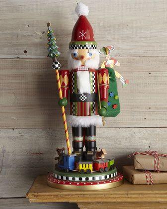 Nutcracker Santa by MacKenzie-Childs at Neiman Marcus.