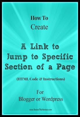How To Create A Link To Jump To A Specific Part Of A Page Step By Step Instructions Descriptive Writing Blog Help Blogging Tips