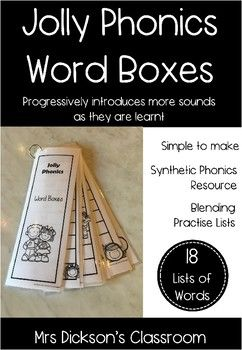 Jolly Phonics Word Boxes Blending Decodable Reading Distance