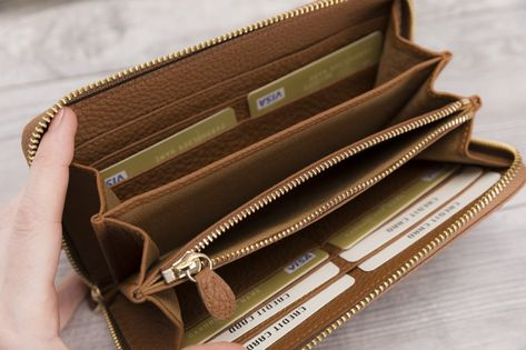 Tan Leather Womens Wallet