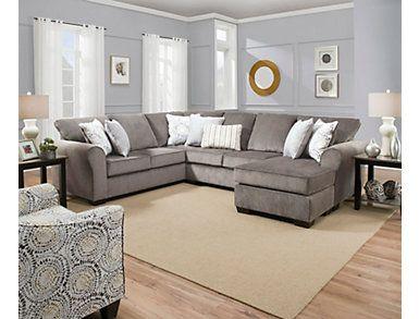 Groovy Harlow Ash 2 Piece Sleeper Sectional House In 2019 Inzonedesignstudio Interior Chair Design Inzonedesignstudiocom