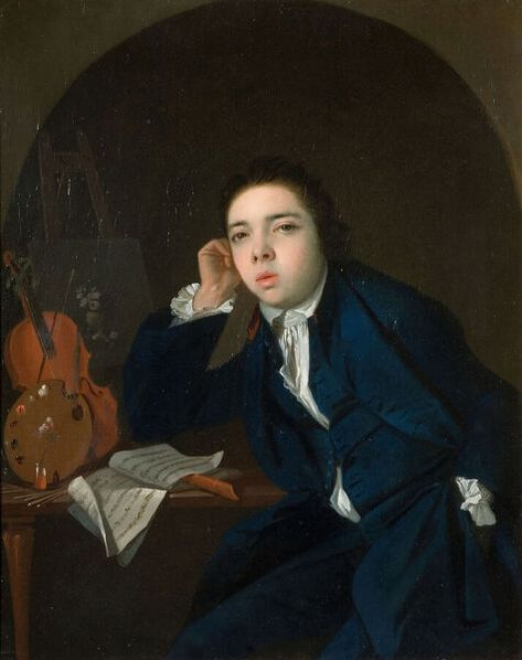 Self-Portrait, 1766. Creator: James Millar. 10 inch Photo. Self-Portrait, 1766.