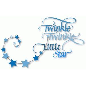 Silhouette Design Store Twinkle Twinkle Little Star Calligraphy Twinkle Twinkle Little Star Baby Boy Scrapbook Baby Silhouette