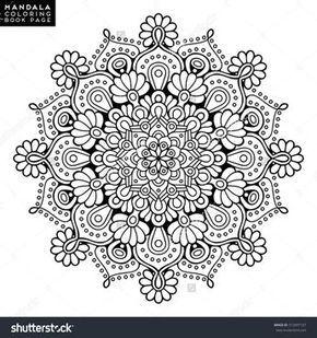 Flower Mandala Vintage Decorative Elements Oriental Pattern Vector Illustration Islam Arabic Mandala Malvorlagen Malbuch Vorlagen Mandala Zum Ausdrucken