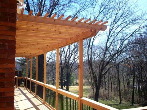Balkonüberdachung Für Große Terrasse Ländlich Rustikal Holz Natur