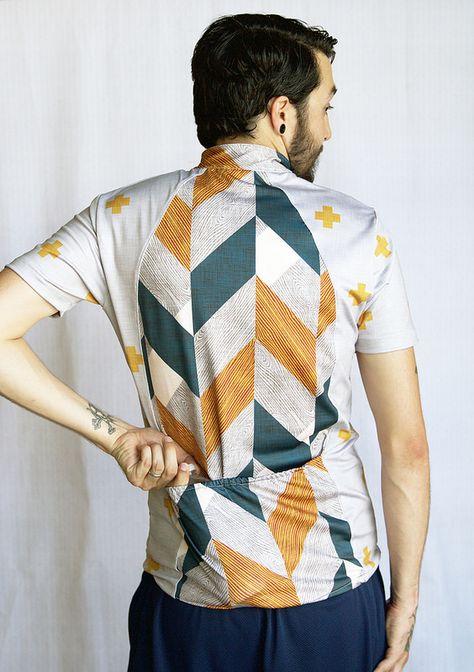 Sport Lycra Bike Jersey | by Spoonflower Fabrics - made with Jalie Pattern 2216