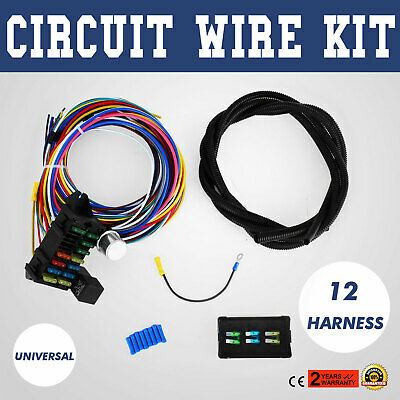 Sponsored Ebay 12 Circuit Universal Wire Harness Muscle Car Hot