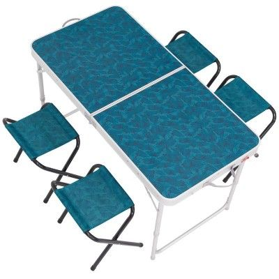 Table De Camping Pliante Avec 4 Tabourets Table De Camping Pliante Table Camping Table Pliante