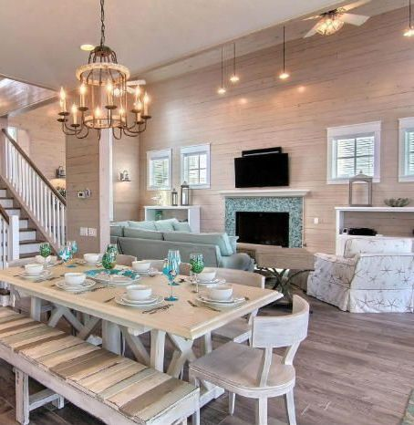 Coastal Summer Home with DIY Driftwood Decor , Rope and Anchor ...