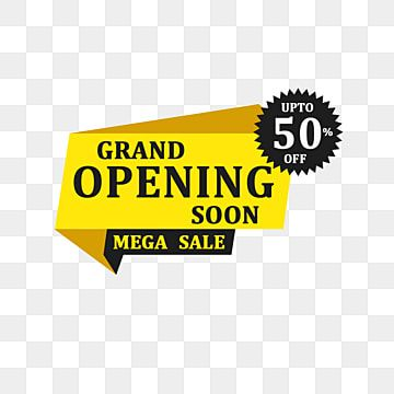 Grand Opening Soon Mega Sale Banner Amazing Design Banner Biggest Png Transparent Clipart Image And Psd File For Free Download Sale Banner Coupon Template Banner Design
