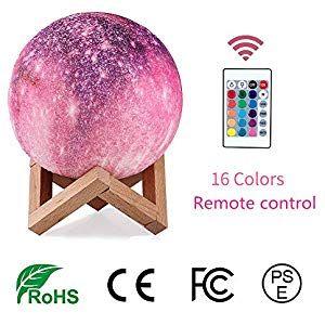 Regemoudal Led Mond Lampe 3d Druck Mondlicht Mit Fernbedienung Farbige Dekoleuchte Dimmbar 16 Lichtfarben Geschenk Fur Kind Liebhab Remote Remote Control Color