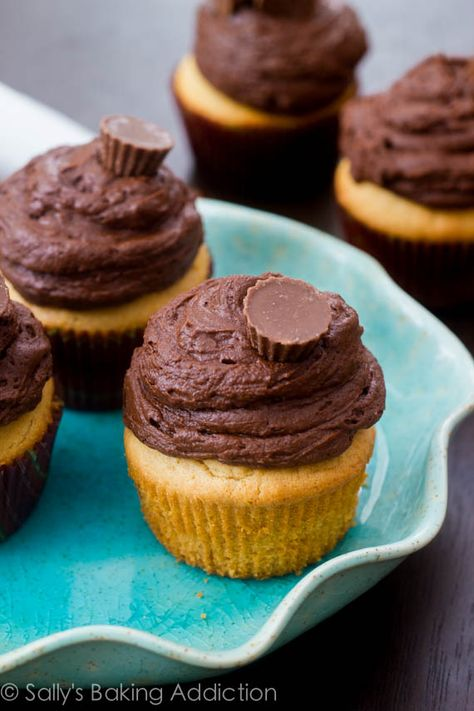 The best peanut butter cupcakes I've ever had. Top them with dark chocolate frosting for one out-of-this-world treat!