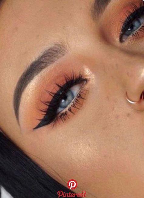 orange Make-up ,  #orange