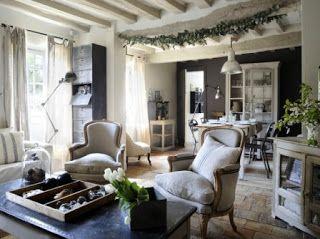 Idee Deco Maison De Charme Deco Salon Bois Et Blanc Inspirational ...