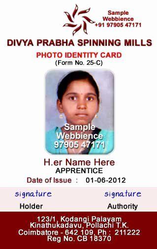 Employee Id Card Templates Inspirational Webbience Idcard Templates Based On Form 25c Employee Id Card Id Card Template Business Card Template Design