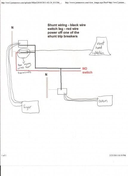 Shunt Trip Circuit Breaker Wiring Diagram   Diagram   Diagram, Wire on