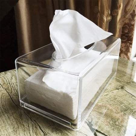 Clear Facial Tissue Dispenser Box