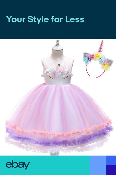 15ea40f9 Unicorn Kids Baby Toddler Girls Formal Tutu Sleeveless Dress Party | Baby  and Toddler Girl Dresses | Unicorn dress, Baby Dress, Baby girl dresses
