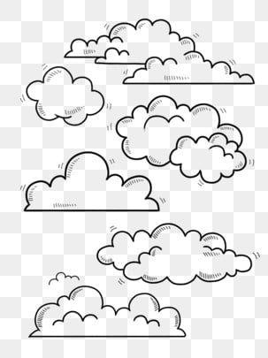 Hand Painted Stick Figure White Clouds Can Be Commercial Elements Hand Painted Commercially Available White Clouds Png Transparent Clipart Image And Psd File In 2021 Cloud Illustration Black And White Clouds