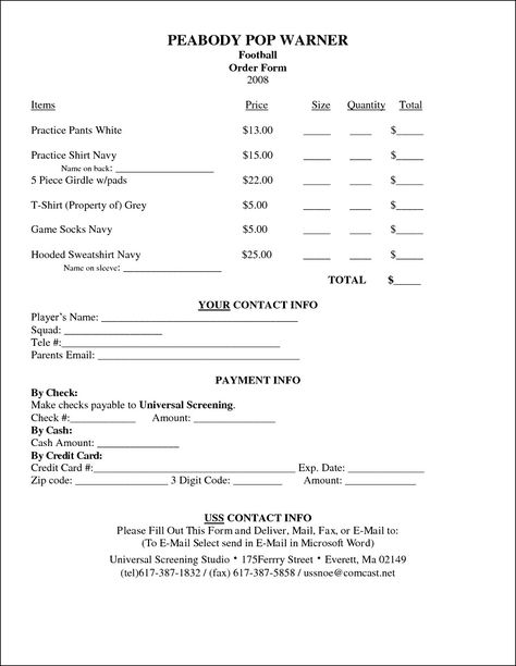 Sample T-Shirt Order Form Template Microsoft Word - t shirt order forms