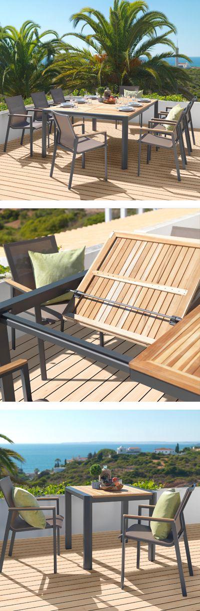 Sitzgruppe Aus Metall Und Holz Moderne Gartenmobel Fur Grill Und Sommerfeste Gartenmobel Aussenmobel Moderne Gartenmobel