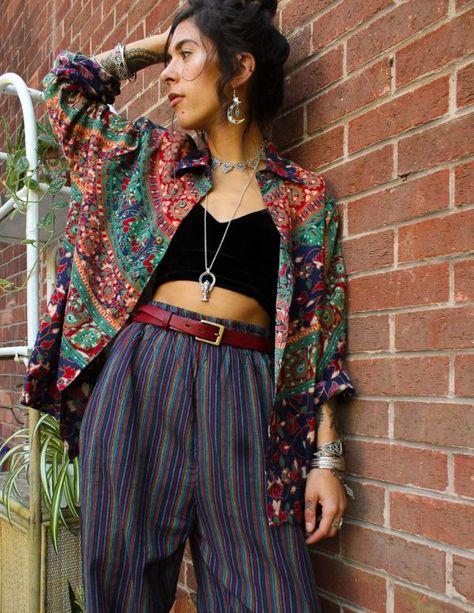 hippie style 659847782893881162 - Unisex Rainbow Striped Cotton Trousers Fashion Cotton cropped trousers men Rainbow Striped Trousers Unisex Source by Boho Outfits, Summer Outfits, Cute Outfits, Fashion Outfits, Cute Hippie Outfits, Artsy Outfits, Funky Outfits, Vintage Outfits, Boho Mode