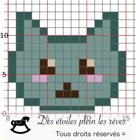 Diy Pixel Art Broderie Point De Croix Et Tête De Chat