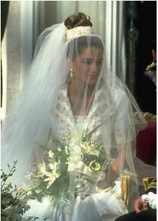 Wedding of Prince Abdullah of Jordan and Rania al Yassin, now King and Queen of Jordan, June 10, 1993.