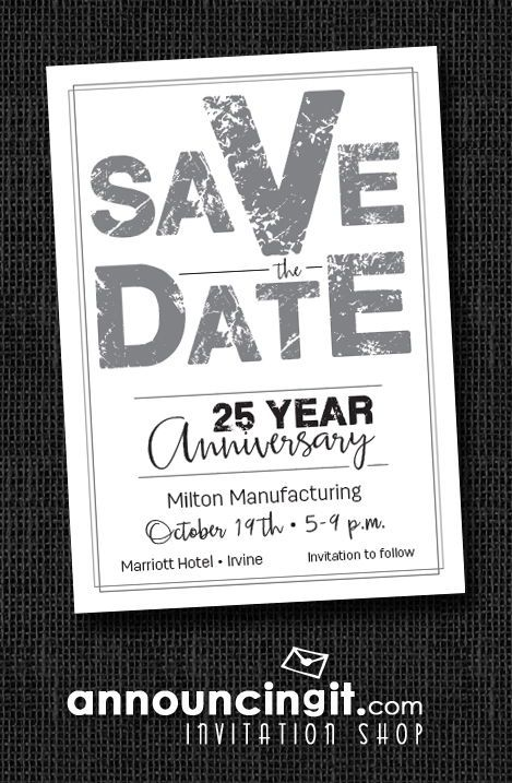 Edgy Silver Business Save The Date Cards In 2019