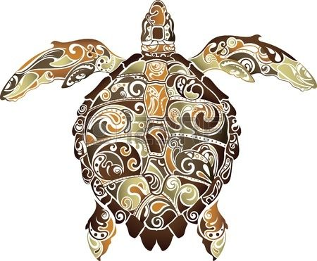 Abstract Turtle Stock Vector