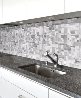 Metal Backsplash Tile Modern Look Stainless Steel