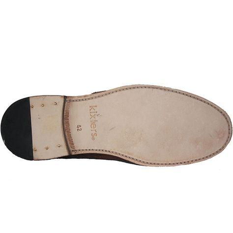 Tan Leather Wing-Tip Oxford Kixters Carlo