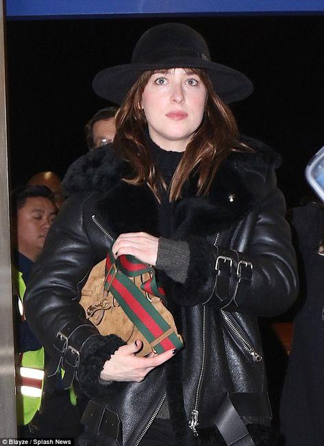 Stylish Dakota Johnson Black Jacket