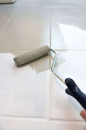 How To Paint Ceramic Tile Floor This Post Gives All The Details Of How To Get The Job Done Small Roller Painting Ceramic Tile Floor Tile Floor Diy Diy Tile
