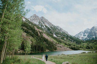 Summer Wedding Locations Maroon Bells Colorado Wedding