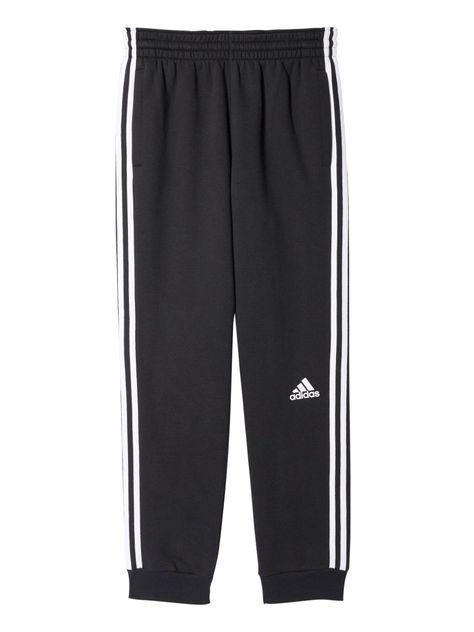 Adidas Men's Slim 3 Stripe Sweatpants, BlackWhite, 3XLarge