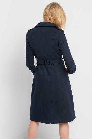 Mantel mit Bindegürtel | Orsei | Mantel, Bindegürtel und