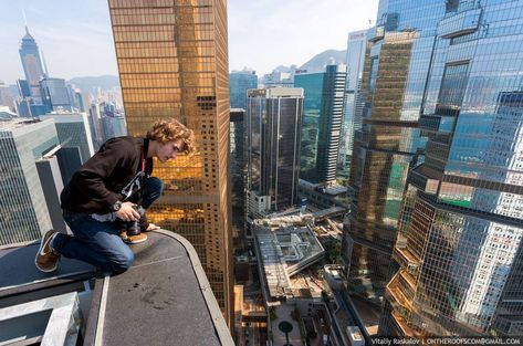 Vadim Makhorov And Vitaly Raskalov Click To Enlarge Vadim And - Daredevil duo climb hong kongs buildings capture like youve never seen