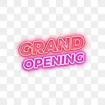 Grand Opening Neon Sign Banner Grand Background Png Transparent Clipart Image And Psd File For Free Download In 2021 Neon Signs Grand Opening Clip Art