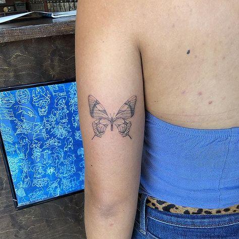 Butterfly    #losangelestattoo#sanfranciscotattoo#singleneedle#finelinetattoo