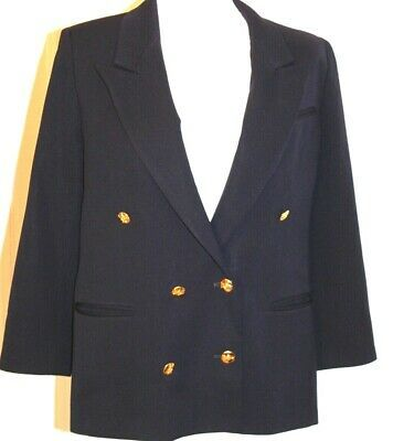 Advertisement Ebay Austin Reed Womens 10p Double Breasted Blazer Navy Blue Gold Crested Buttons Vtg Double Breasted Blazer Navy Blue Blazer Double Breasted