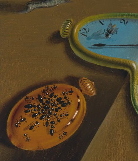 The Meaning Of Salvador Dali S Famous Melting Clocks Painting The Persistence Of Memory In 2020 Clock Painting Melting Clock Painting