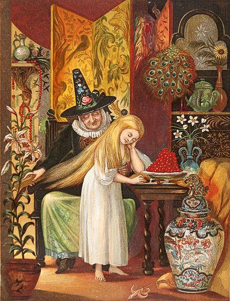 Eleanor Vere Boyle, Hans Andersen, The Snow Queen. Rapunzel Flynn, Hair Canvas, Andersen's Fairy Tales, Book Of Hours, Fairytale Art, Hans Christian, Snow Queen, Old Things, Canvas Prints