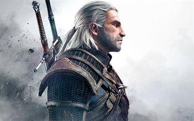 Herunterladen Hintergrundbild Geralt Von Riva 4k 2017 Spiele Kunst Rpg The Witcher Besthqwallpapers Com The Witcher Spiel The Witcher Rpg