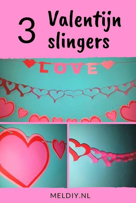 Haal Valentijn Decoratie In Huis Met Deze Valentijn Slingers Valentijnsdag Slingers Knutselen Decoratie Valentijn Decoratie Verjaardagsslinger Decoratie
