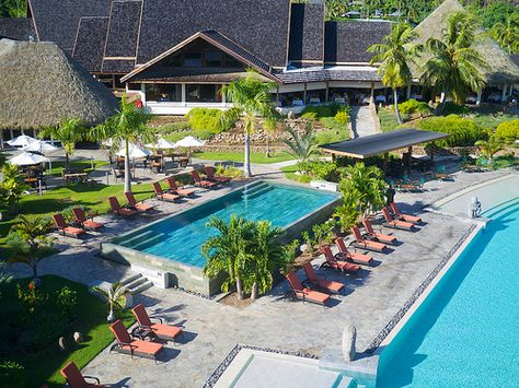 Intercontinental Moorea Resort Spa Maison Piscine Et Voyage