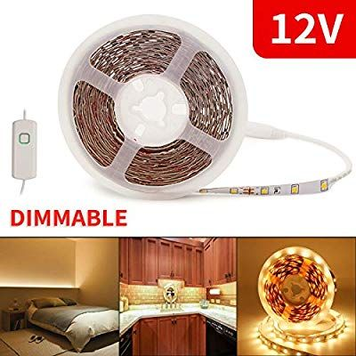 Amazon Com Led Light Strips 12v Led Rope Lights White Led Strip Lights Dimmable Under Cabinet Lighting Ul Led Rope Lights Led Tape Lighting Led Strip Lighting