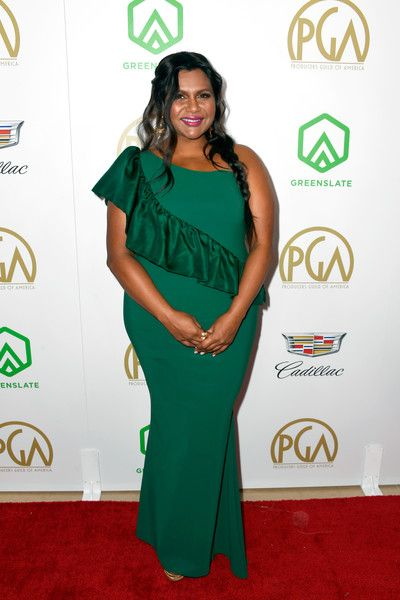 Mindy Kaling attends the 30th annual Producers Guild Awards at The Beverly Hilton Hotel.