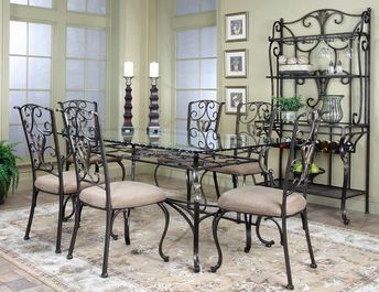 Wescot Rt Table 4 Chairs 9811 Cramco Dining Room Sets In 2021 Rectangular Dining Room Table Glass Dining Table Glass Dining Room Table
