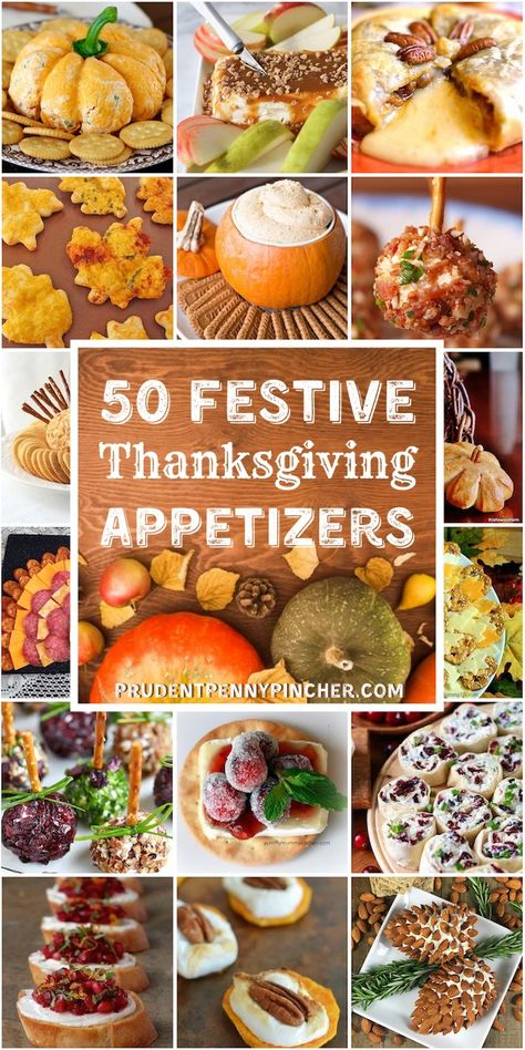 50 Festive Thanksgiving Appetizers Get your Thanksgiving dinner started off right with these festive and flavorful Thanksgiving appetizers that your guests will love! Best Thanksgiving Recipes, Thanksgiving Treats, Thanksgiving Sides, Fall Recipes, Holiday Recipes, Easy Thanksgiving Appetizers, Holiday Appetizers, Appetizer Recipes, Holiday Parties